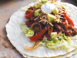 lime-mixed-bean-fajitas