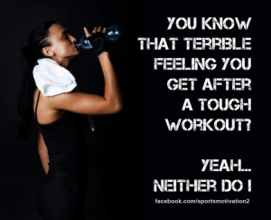 terrible feeling after workout